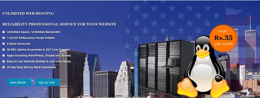 Rs.35 web hosting